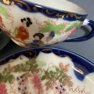 JAPANESE HANDPAINTED Cup and Saucers
